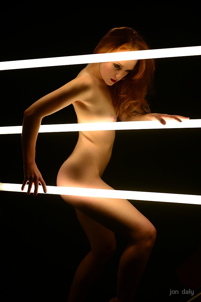 Holly with Neon by jon  daly