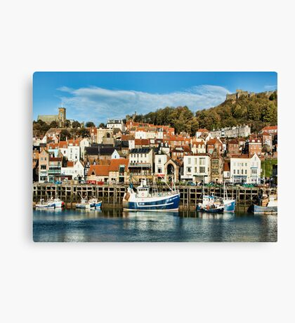 Scarborough Harbour Canvas Print