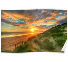 Ocean Grove Sunset Poster