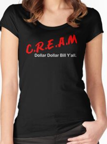 Cash Rules  Women's Fitted Scoop T-Shirt