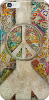 peace iphone case by © Karin  Taylor