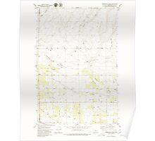 USGS Topo Map Washington State WA Sagebrush Ridge 243559 1979 24000 Poster
