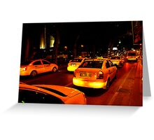 Taxi in Istanbul Greeting Card