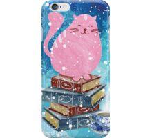 Bookish Cat in Winter iPhone Case/Skin