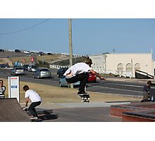Flying High! - Ollie On The Street Course Photographic Print