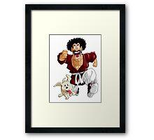 Mr satan and Bee Framed Print