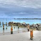 View of Nygard Cay from Jaws Beach in Nassau, The Bahamas by 242Digital