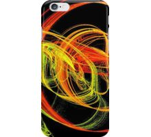 Warm Swirls of Red Yellow and Orange iPhone Case/Skin
