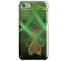 Swirling Green Abstract iPhone Case/Skin
