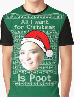 POOT LOVATO CHRISTMAS MEME Graphic T-Shirt