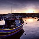 Dawn at Marsaxlokk by Xandru