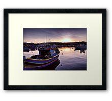 Dawn at Marsaxlokk Framed Print