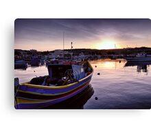 Dawn at Marsaxlokk Canvas Print