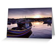 Dawn at Marsaxlokk Greeting Card