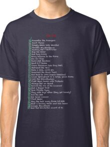 My busy Movie 'to do' list Classic T-Shirt