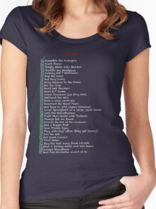 My busy Movie 'to do' list Women's Fitted Scoop T-Shirt