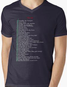 My busy Movie 'to do' list Mens V-Neck T-Shirt