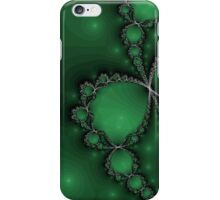 Silver Necklace on Green iPhone Case/Skin