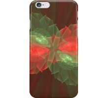Red and Green Floral Abstract iPhone Case/Skin