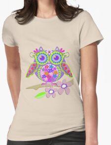 Cute Flower Power Owl T-Shirt