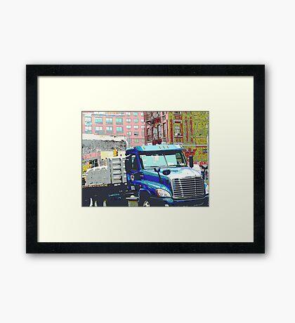 Bravo Truck, Harlem Framed Print