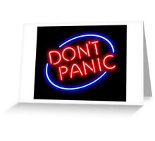 "Hitchhiker's Guide - ""Don't Panic"" Neon Sign Greeting Card"