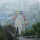 Amusement Park Eye ~ Ferris Wheel in Vladivostok, Russia by Lucinda Walter