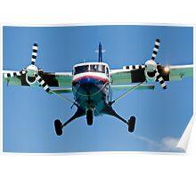 Turboprop passenger airplane. Poster