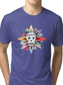 The Day of the Dead Colours T Shirt Tri-blend T-Shirt