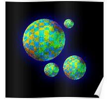 Vaporwave-Multi Spheres Poster