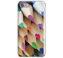 Rainbow of Colored Pencil Points iPhone Case/Skin