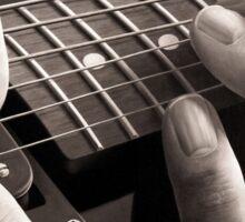 Distort, Guitar Player Oil Painting Sticker