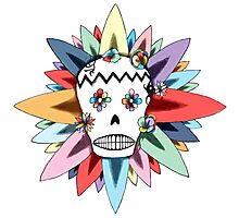 The Day of the Dead Colours T Shirt Photographic Print