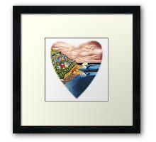 Surf Heart T Shirt Framed Print