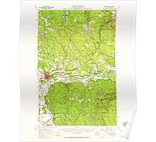 USGS Topo Map Washington State WA Monroe 242373 1956 62500 Poster