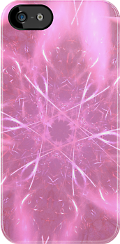 Pink Starburst Abstract by pjwuebker