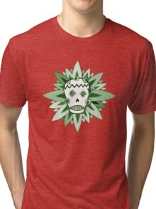 The Day of the Dead Green T Shirt Tri-blend T-Shirt