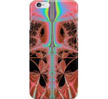 Pink Nightgown With Rainbow Laser Abstract iPhone Case/Skin