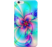 Pink Four Leaf Clover With Pastels iPhone Case/Skin