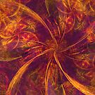 Pink and Orange Bow Abstraction by pjwuebker
