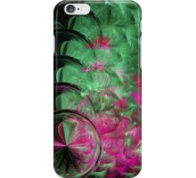 Pink and Green Snake Skin Abstract iPhone Case/Skin