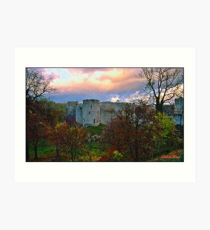 """"""" An Autumn evening  at Chepstow Castle"""" Art Print"""