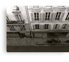 Parisian street Canvas Print