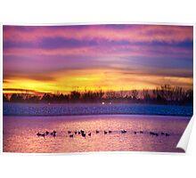 Lagerman Reservoir Sunrise 2 Poster