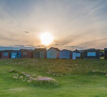 Beach Huts at Portland Bill by bethadin