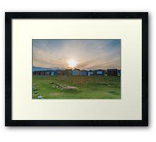 Beach Huts at Portland Bill Framed Print