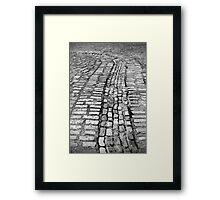 Cobblestone lines Framed Print