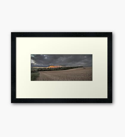 Sunset Farmland Framed Print