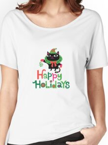 Happy Catiday Holiday   Women's Relaxed Fit T-Shirt