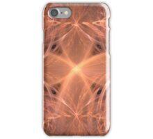 Peach Colored Swirling Cross iPhone Case/Skin